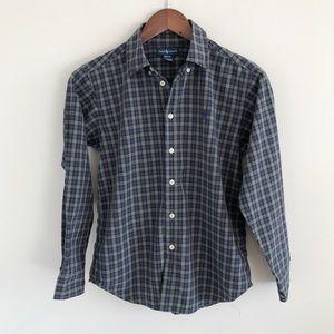 Kids Ralph Lauren 100% Cotton Plaid Shirt M 12/14